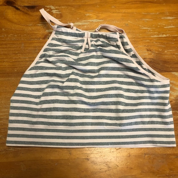 Cacique Other - Cacique bralette size 18. Pink and grey striped